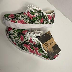 Toms Cordones Indio Floral Pink Green Sneaker